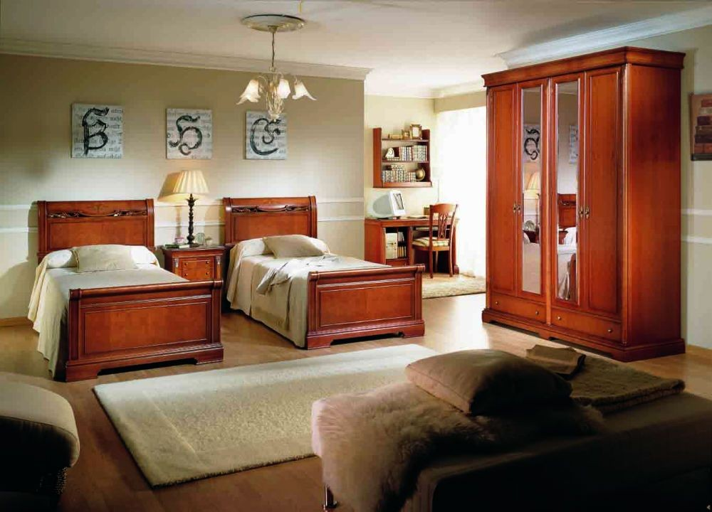Dormitorio juvenil colonial clasico 218 desire - Dormitorios juveniles clasicos madera ...