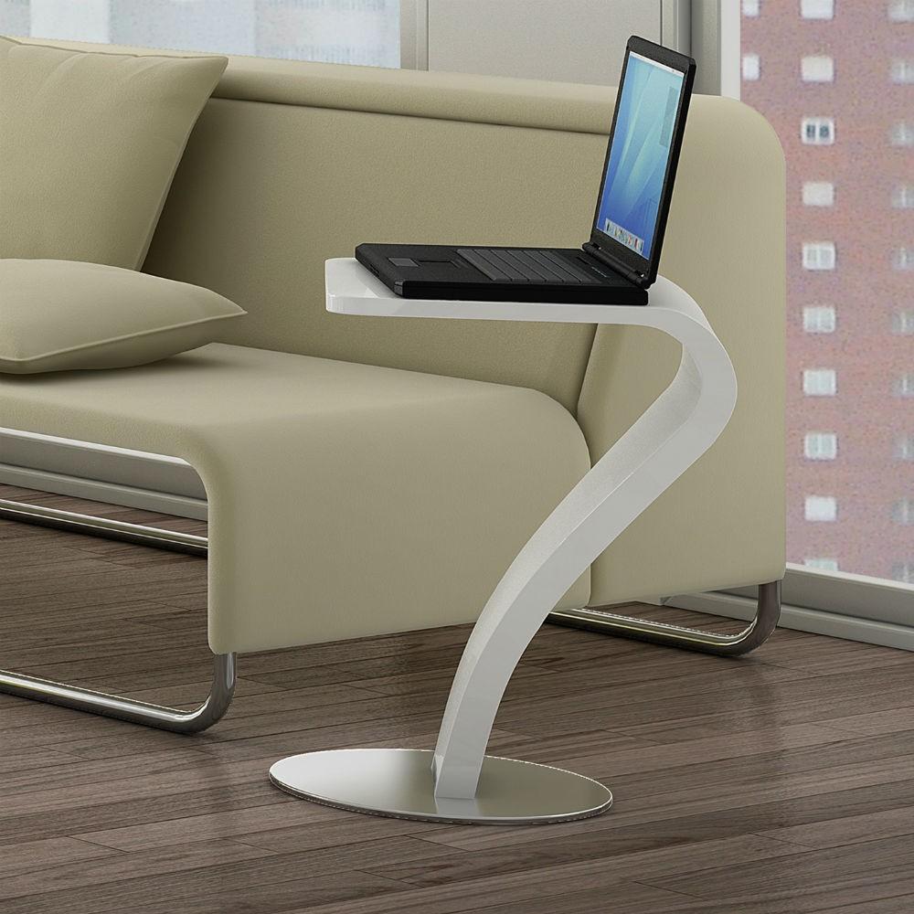 Mesa rincon auxiliar moderna lacado brillo 962 siete - Mesa auxiliar sofa ...