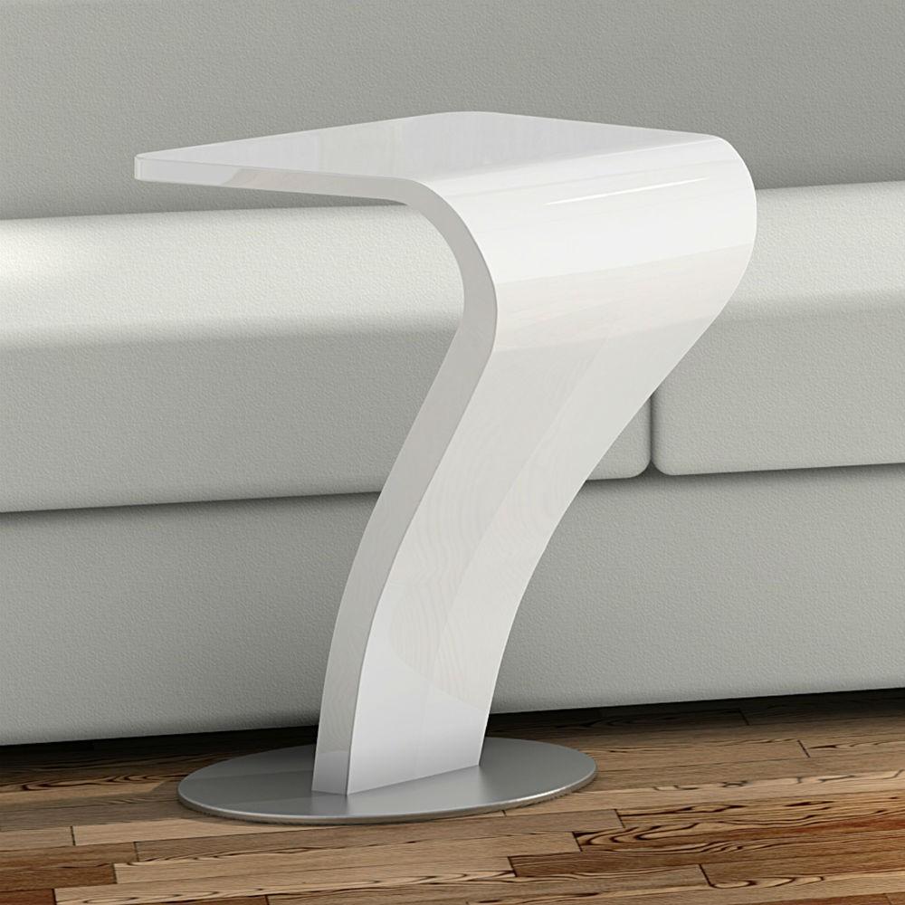 Mesa rincon auxiliar moderna lacado brillo 962 siete - Mesas redondas modernas ...
