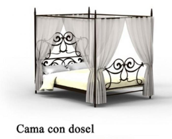 Dormitorio forja cama con dosel 1215 agata - Cama con dosel ...