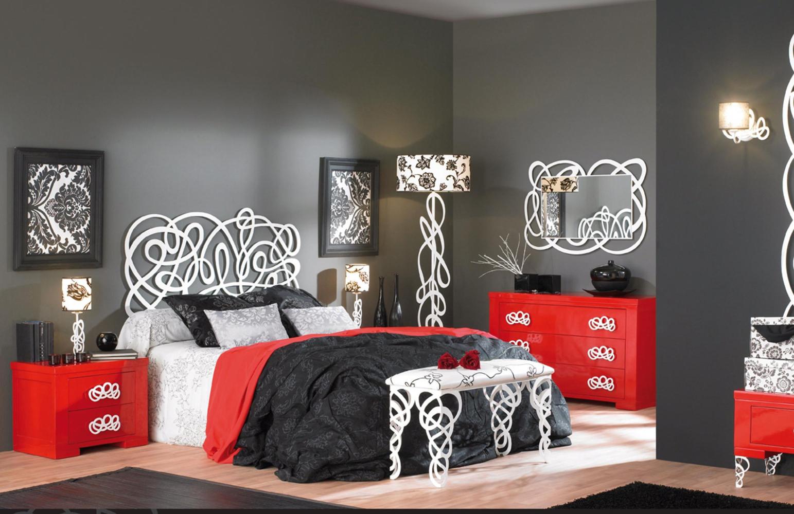 Dormitorio forja cama con ba era 1215 algarabia - Cabezales de forja modernos ...