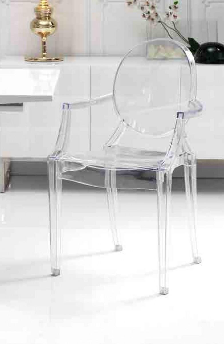 Mesa comedor cristal transparente moderna dise o alta - Mesas modernas comedor ...