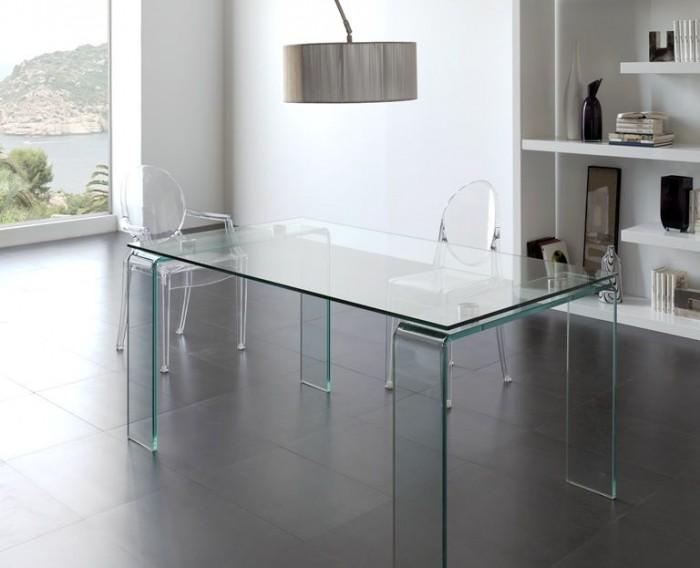 Mesa Comedor Cristal Transparente Moderna Dise O Alta