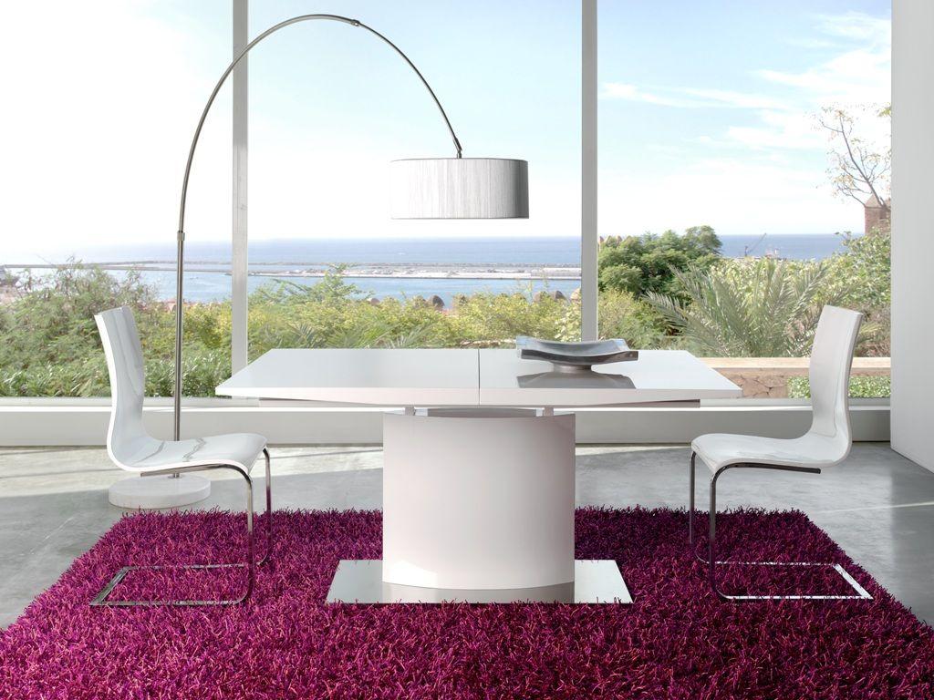 Mesa comedor moderna lacado dise o 916 dt 01 mobles sedav - Mesas modernas comedor ...