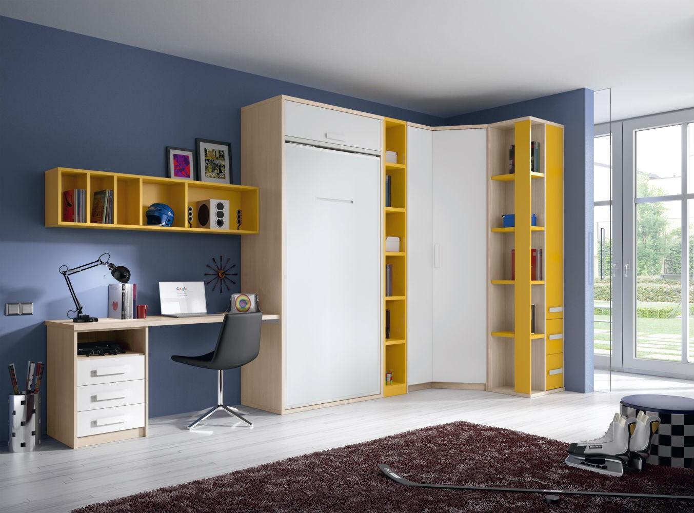Dormitorio infantil juvenil moderno literas abatibles 69 f224 for Dormitorios juveniles abatibles