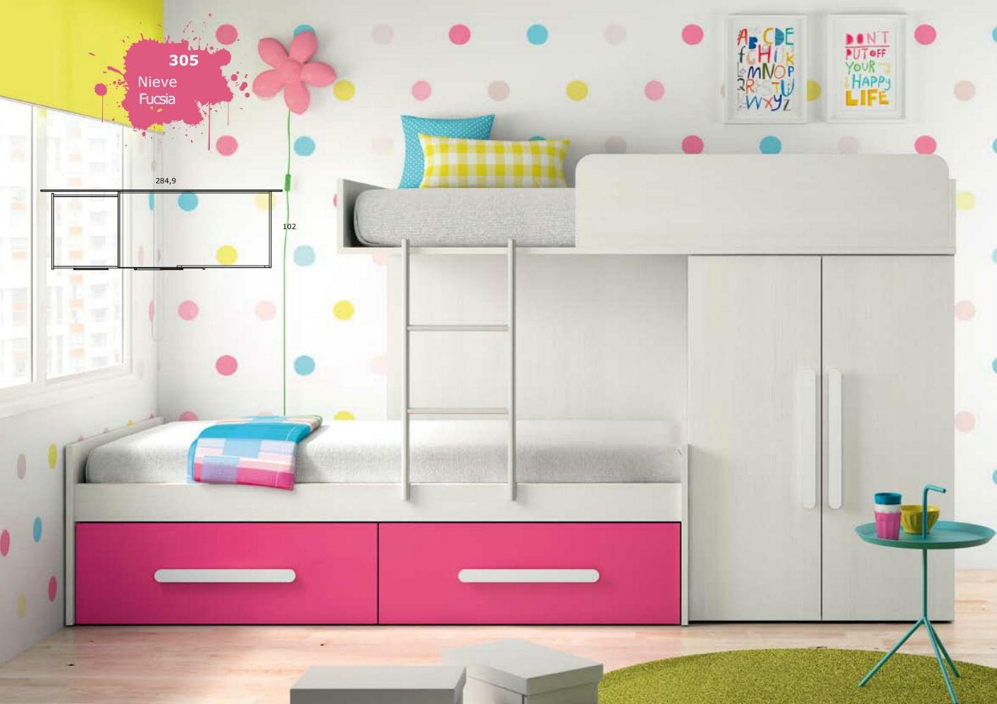 Mueble dormitorio infantil juvenil completo moderno - Ver dormitorios infantiles ...