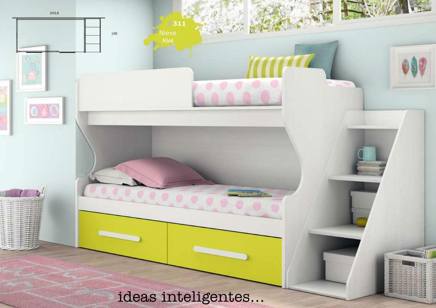Litera mueble dormitorio infantil juvenil completo moderno for Muebles dormitorio infantil juvenil