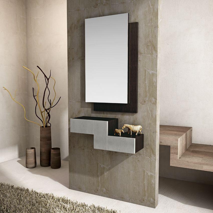 Recibidor moderno madera lacado muebles valencia for Recibidores modernos