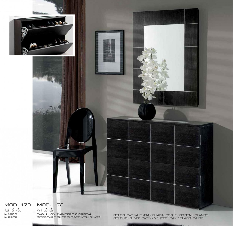 Recibidor moderno chapa natural 194 172 179 mobles sedav for Mueble recibidor moderno