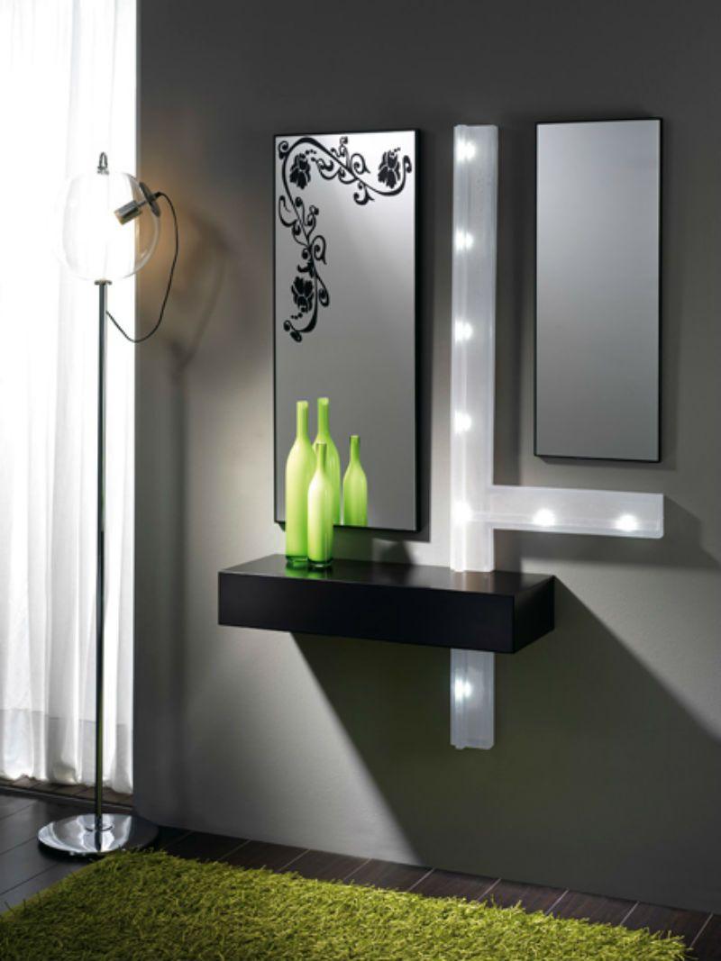 Recibidor moderno madera lacado muebles valencia for Muebles valencia