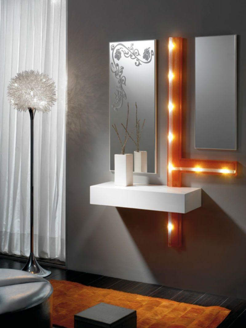 Recibidor moderno madera lacado muebles valencia for Mesas recibidores modernos