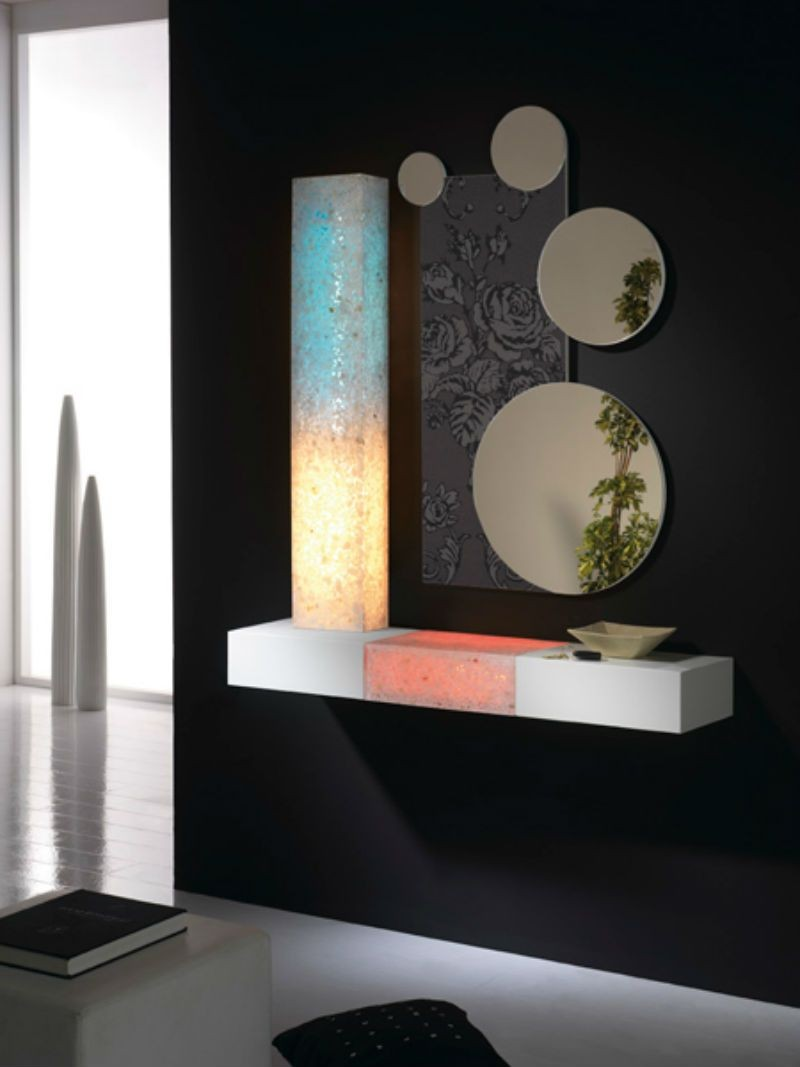 Recibidor moderno madera lacado muebles valencia for Muebles diseno moderno
