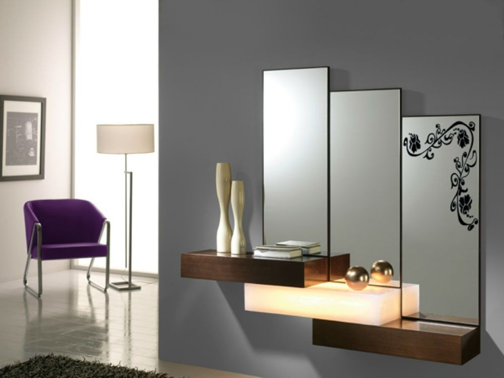 Mueble recibidor resina moderno diseu00f1o, 50-d-2055 b