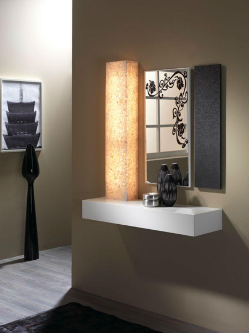 Recibidor moderno madera lacado muebles valencia for Hacer mueble salon moderno