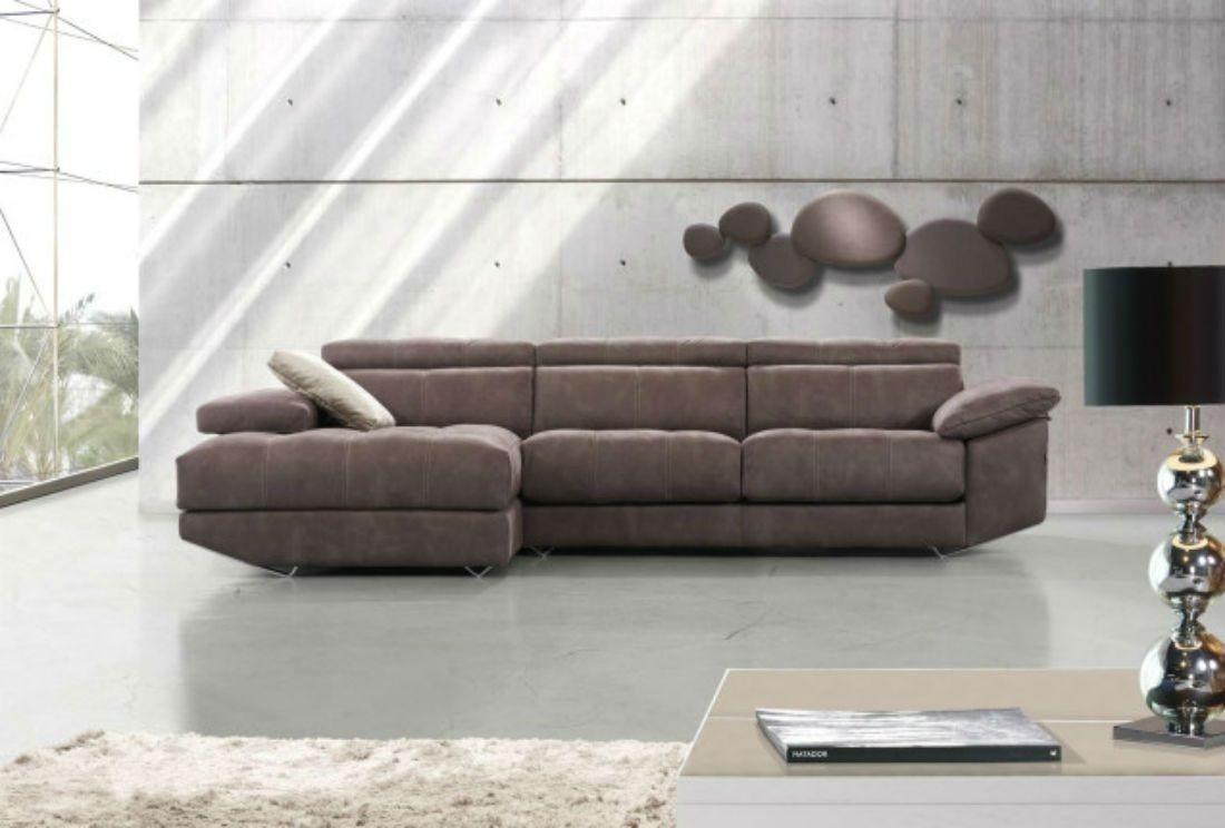 Sofa Moderno Com Chaise Sofá Moderno Con