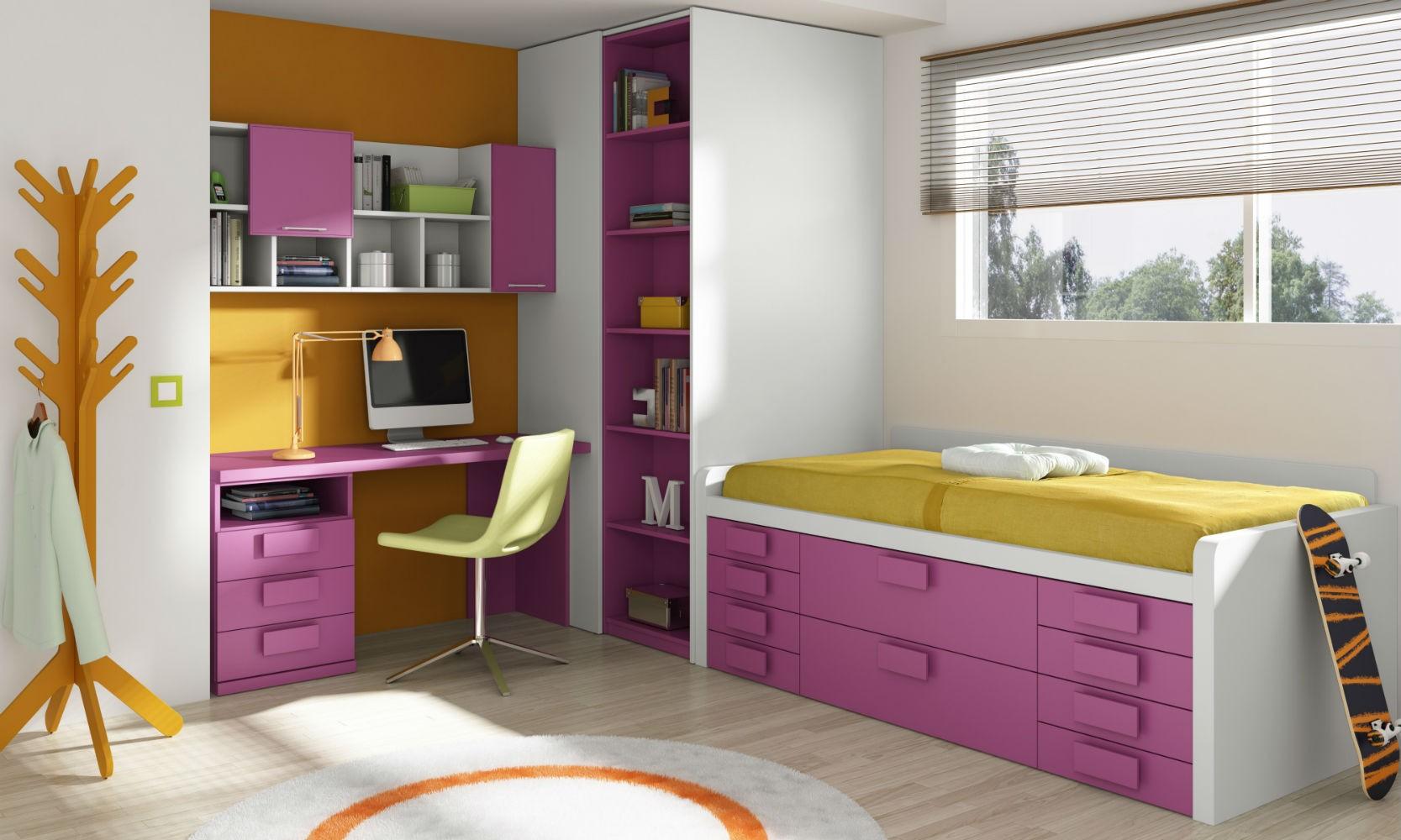 Dormitorio infantil juvenil moderno  Muebles Valencia