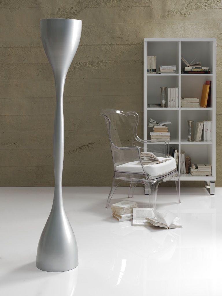 Lampara pie de sal n metalica moderna muebles valencia - Lampara pie salon ...