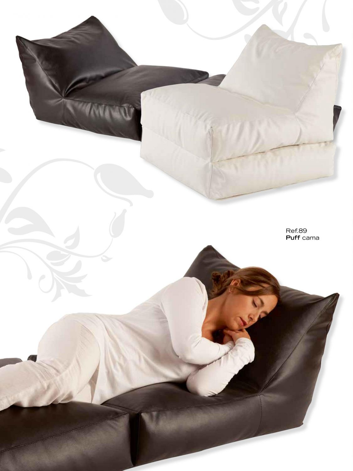 Puff cama tapizado 956 89 for Puff cama 1 plaza