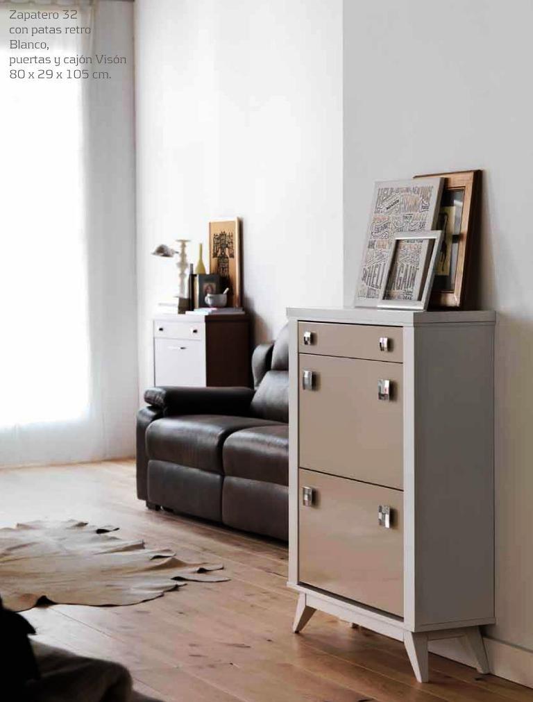 Mueble recibidor zapatero moderno lacado 565 32 mobles for Muebles clasicos baratos