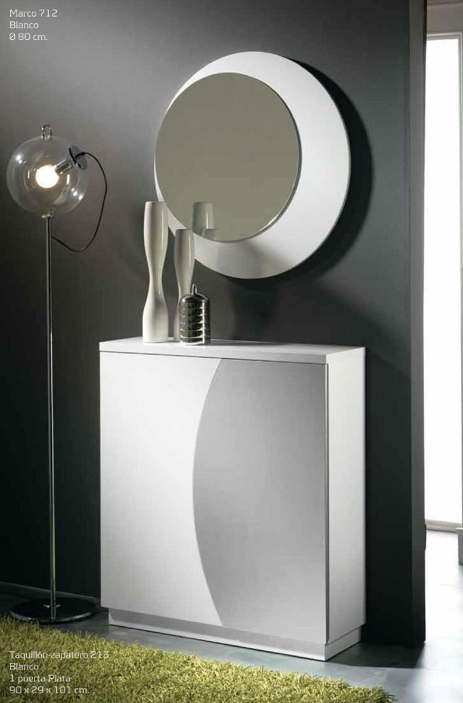 Decorar cuartos con manualidades recibidor zapatero for Recibidor zapatero con espejo