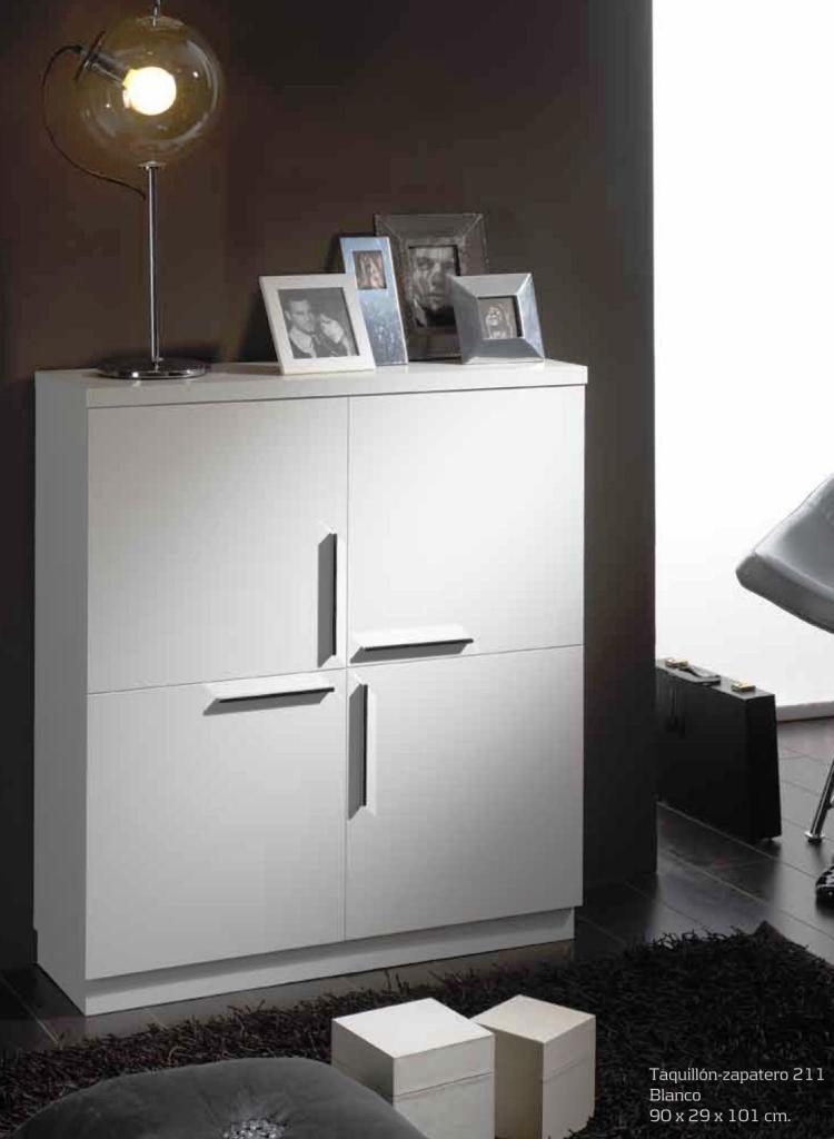 Recibidor moderno madera lacado muebles valencia for Zapatero vintage barato
