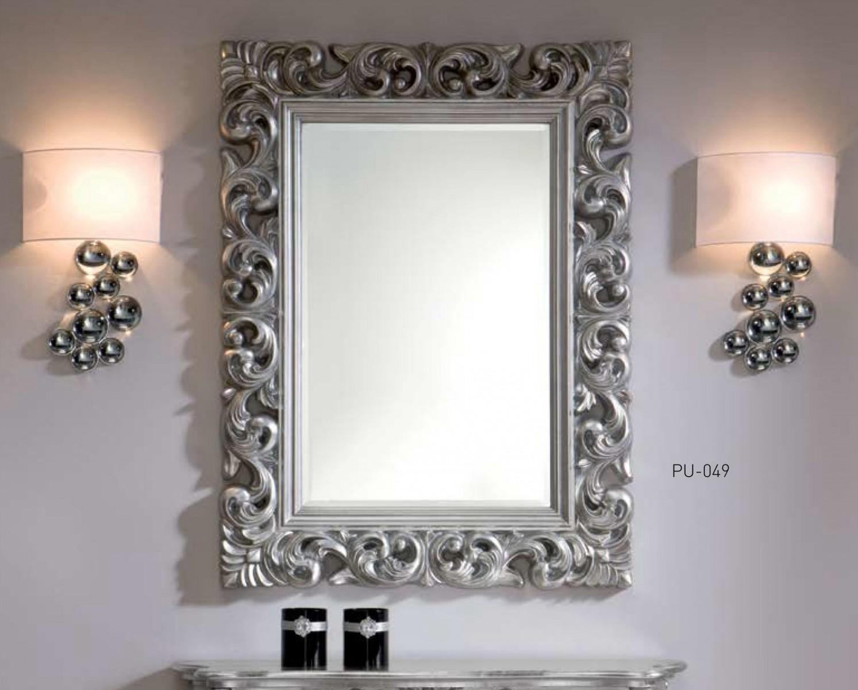 Espejo decoraci n rectangular oro plata for Espejos color plata