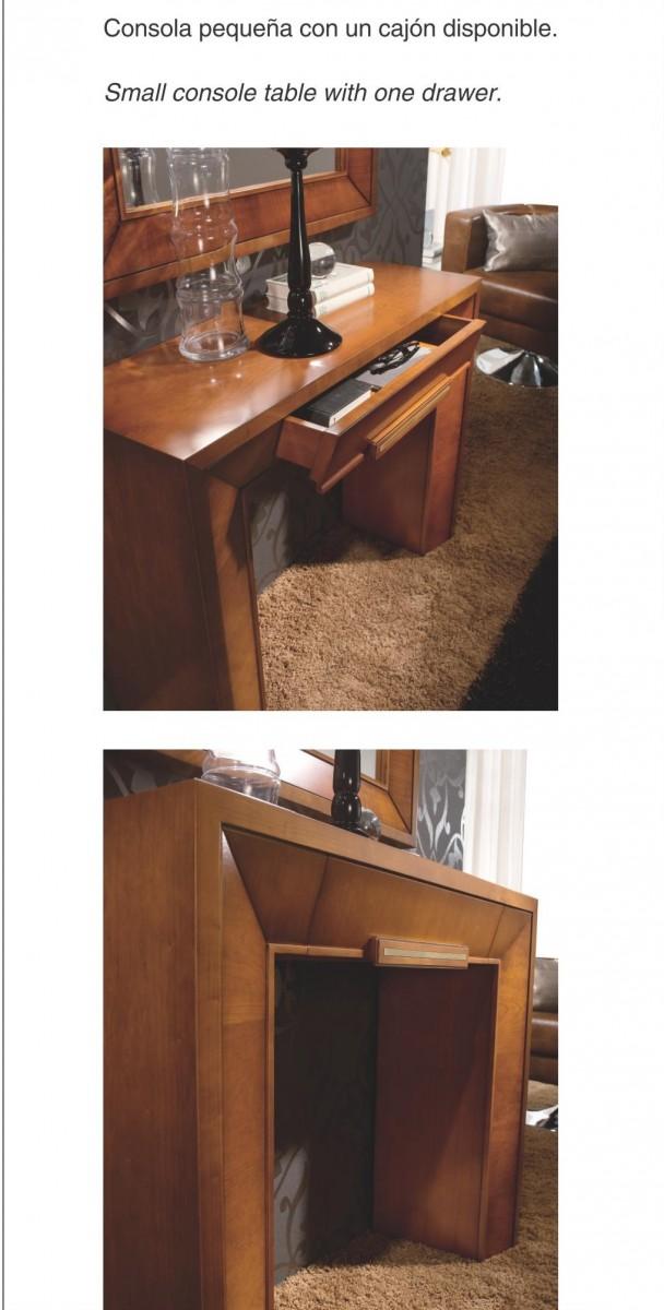 Recibidor cl sico colonial madera dise o 667 505 mobles for Clasicos del diseno muebles