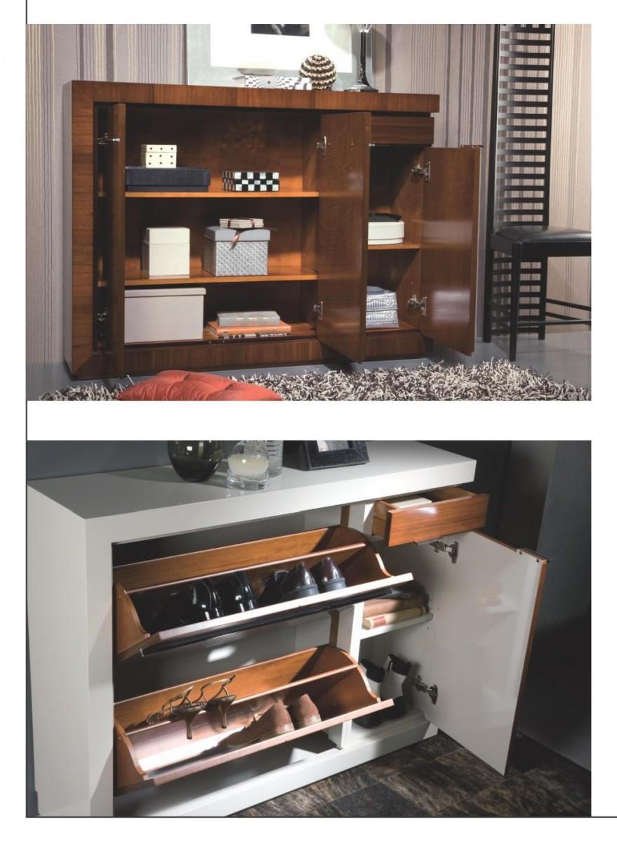 Mueble zapatero recibidor clasico colonial mobles sedav for Muebles madera diseno