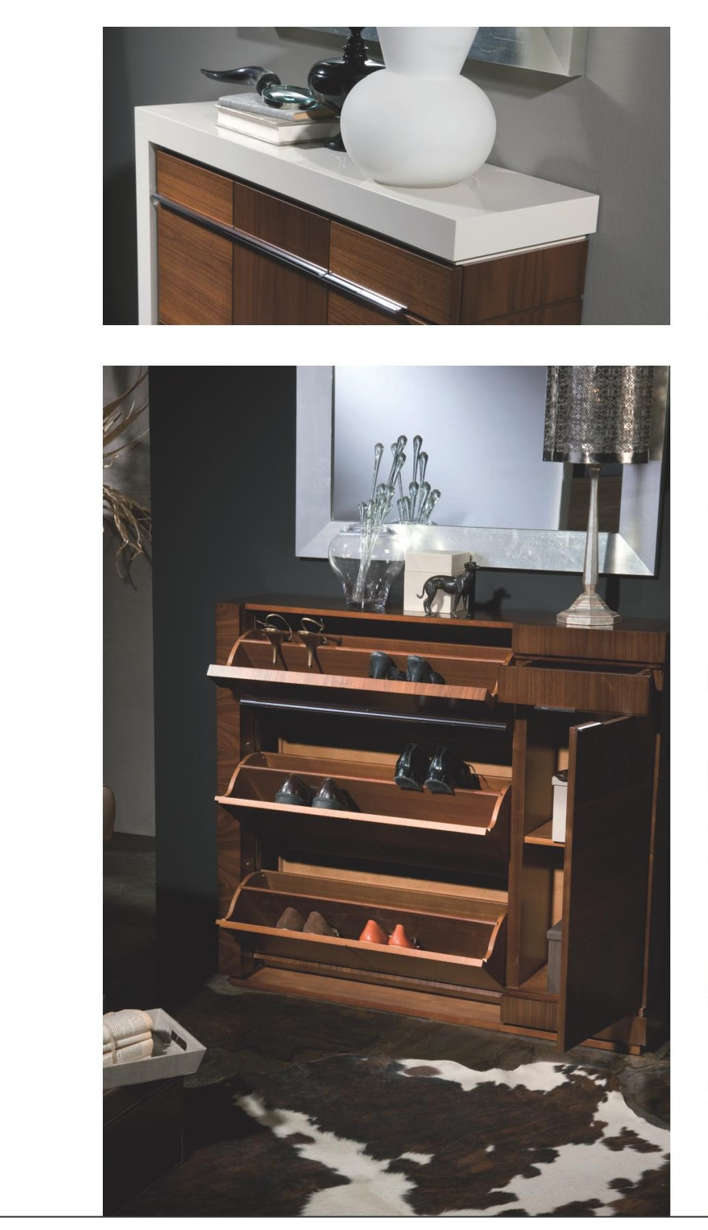 Mueble recibidor zapatero clasico moderno lacado muebles for Mueble recibidor