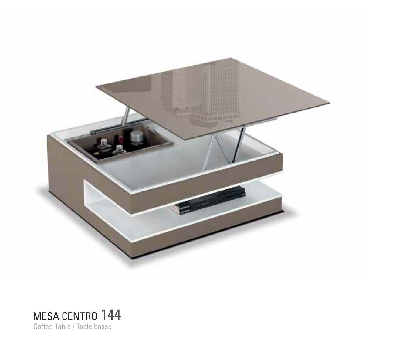 Mesa centro moderna elevable dise o muebles valencia - Mesa centro diseno ...