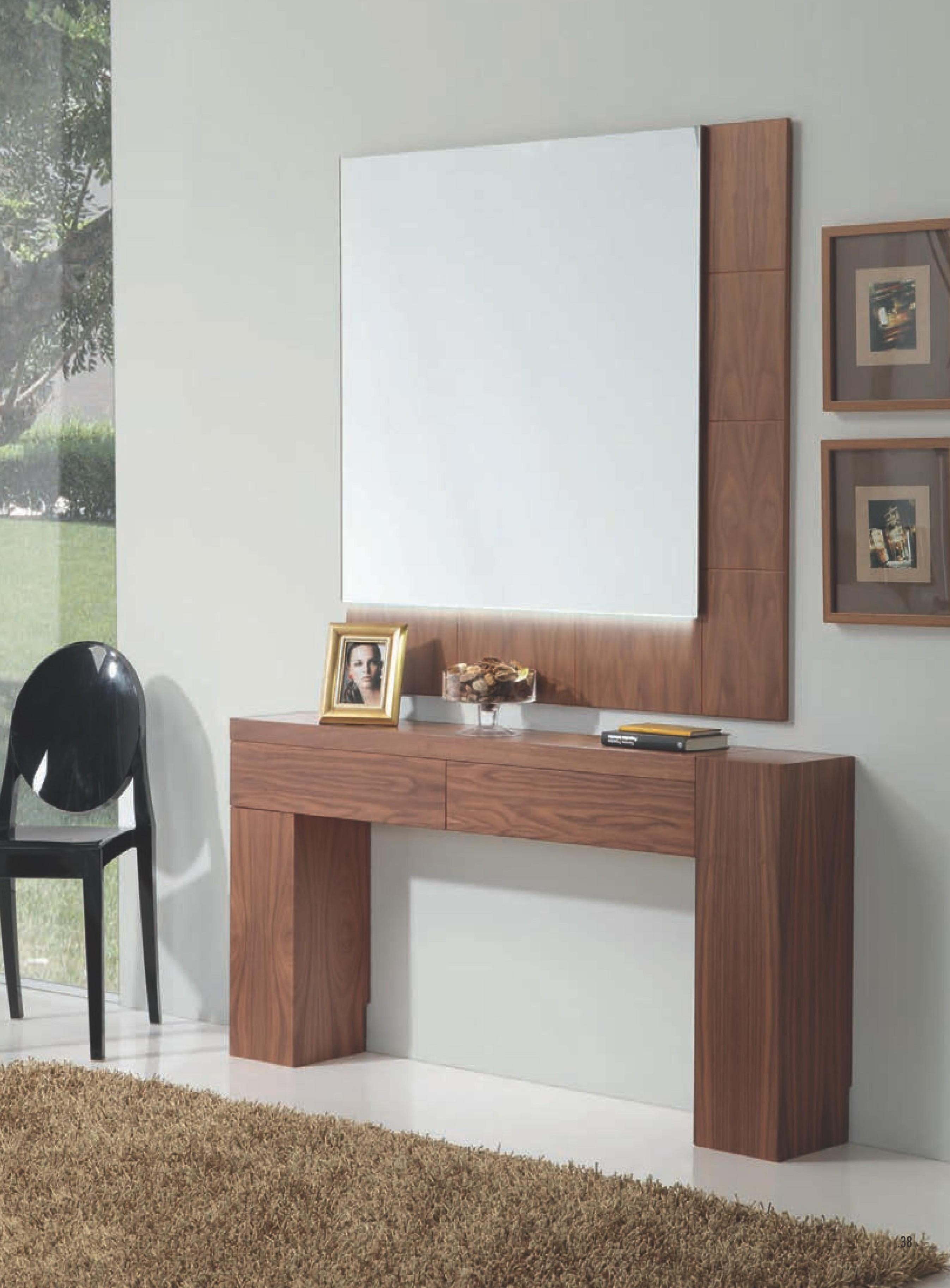 Recibidor moderno madera lacado leds 0194 494 496 mobles sedav - Mueble recibidor madera ...