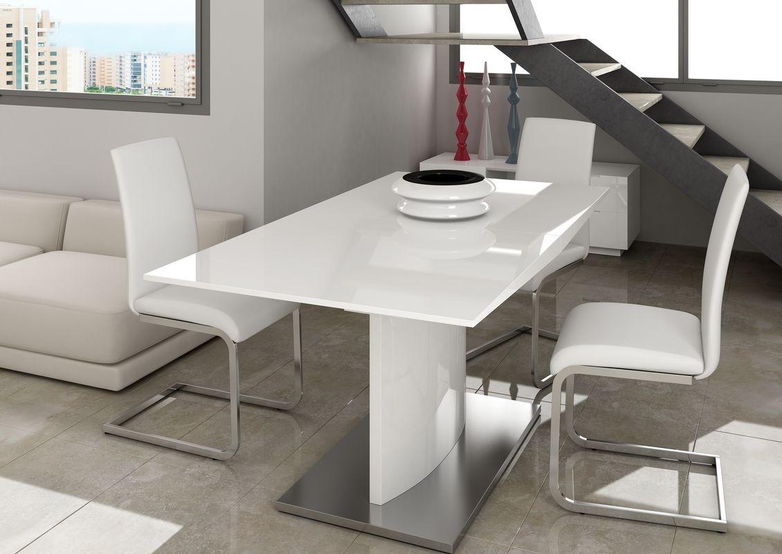 Mesacomedor moderna dise o metalica muebles valencia for Muebles sillas comedor modernas