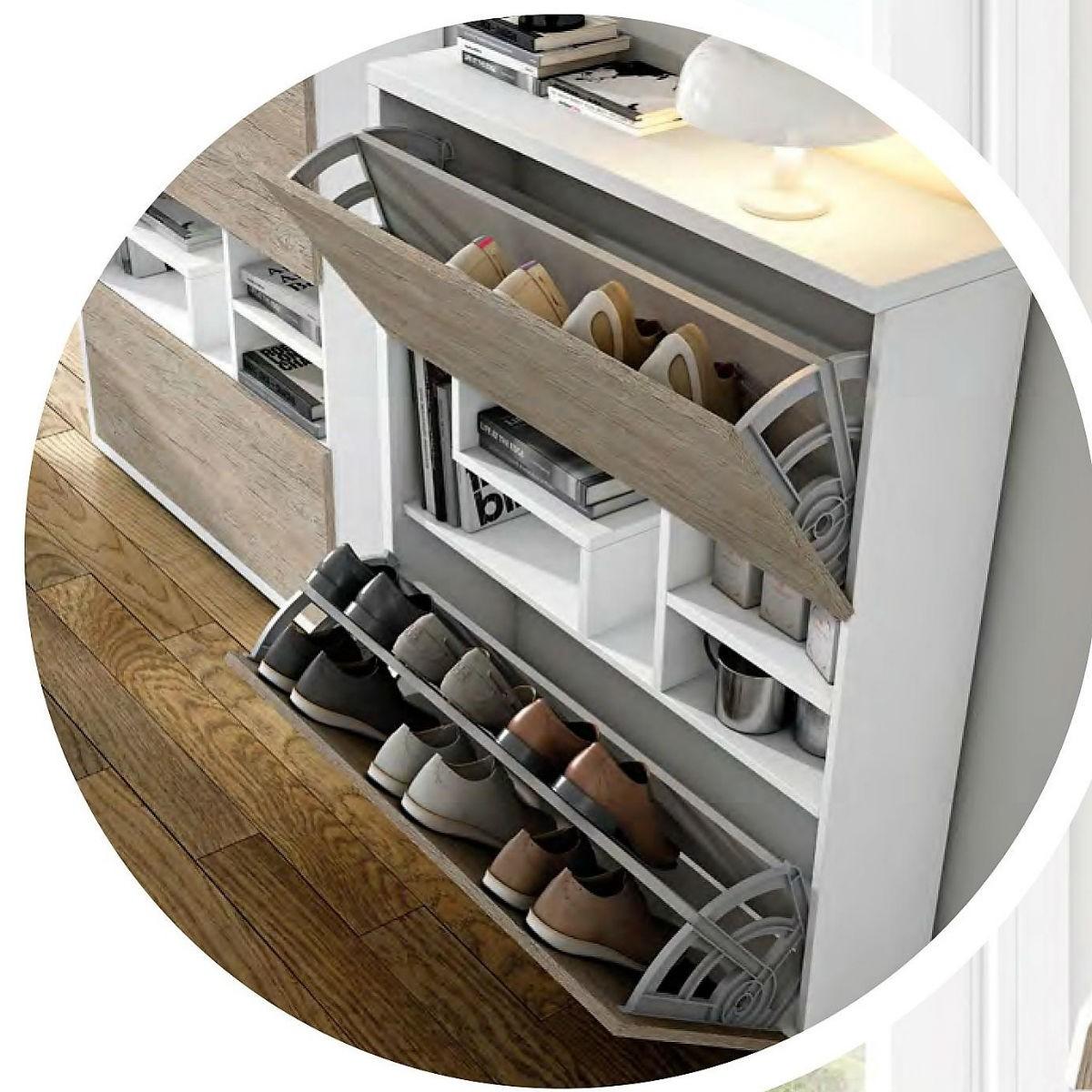 Recibidor zapatero moderno lacado 9 01 mobles sedav - Recibidor zapatero moderno ...