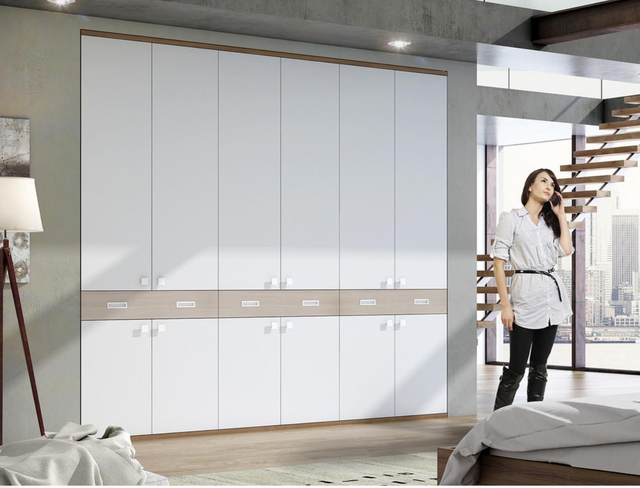 Armario moderno puertas abatibles medida 620 03 mobles - Puertas armario abatibles ...