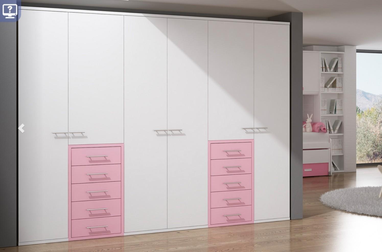Armario moderno puertas abatibles a medida 620 05 mobles - Armarios puertas abatibles ...