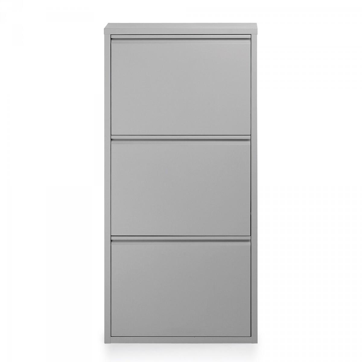 Mueble zapatero 3 estantes 513 01 plata mobles sedav for Mueble zapatero metalico