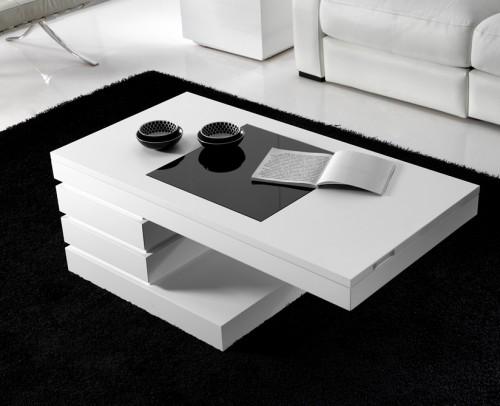 Mesas centro modernas gran variedad de dise os mobles for Mesas de salon blancas
