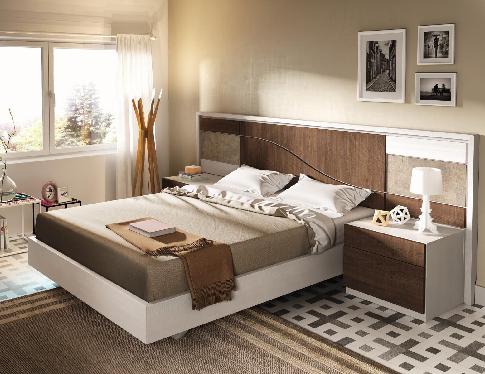 Dormitorio matrimonio moderno beladur 270 11 mobles sedav - Cabeceros de piedra ...