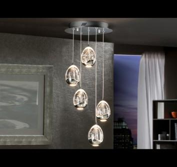 Lámpara colgante LED Rocio de Schuller