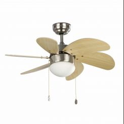 FARO PALAO Ventilador de techo con luz níquel mate 33183
