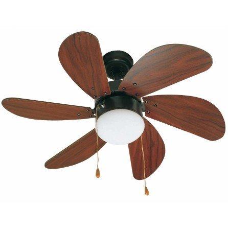 FARO PALAO Ventilador de techo con luz marrón 33185