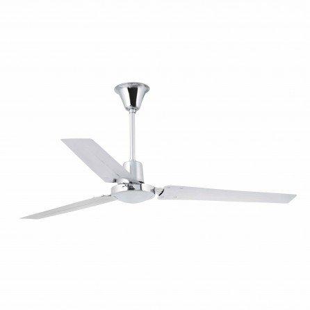 FARO INDUS Ventilador de techo sin luz cromo 33002
