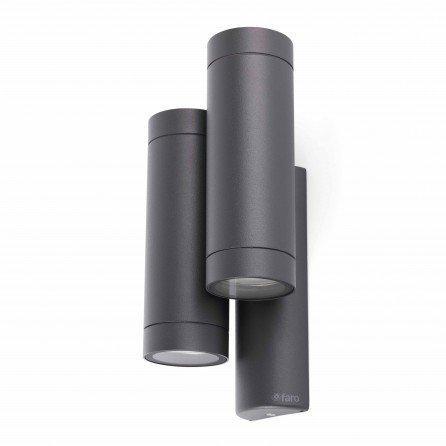 FARO STEPS Lámpara aplique gris oscuro doble 75503