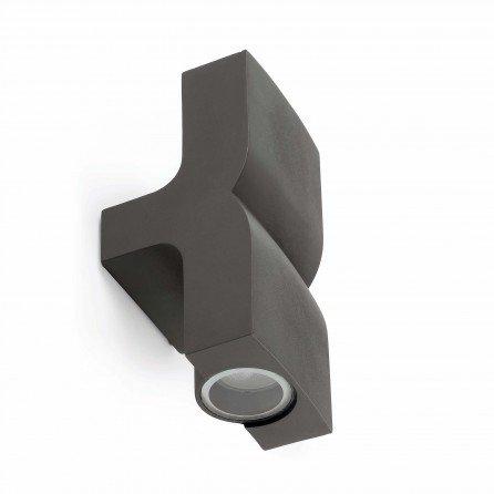 FARO KLAMP Lámpara aplique gris oscuro 74408