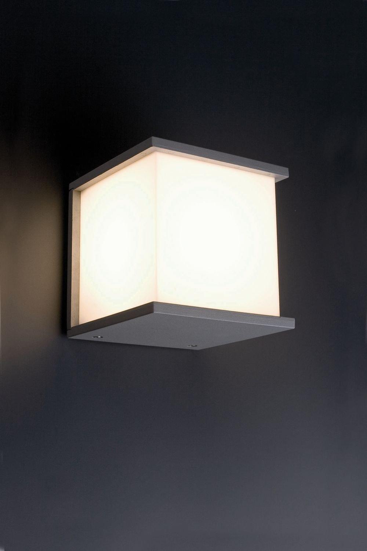 Faro kubick l mpara aplique gris 70715 iluminaci n for Apliques iluminacion exterior pared