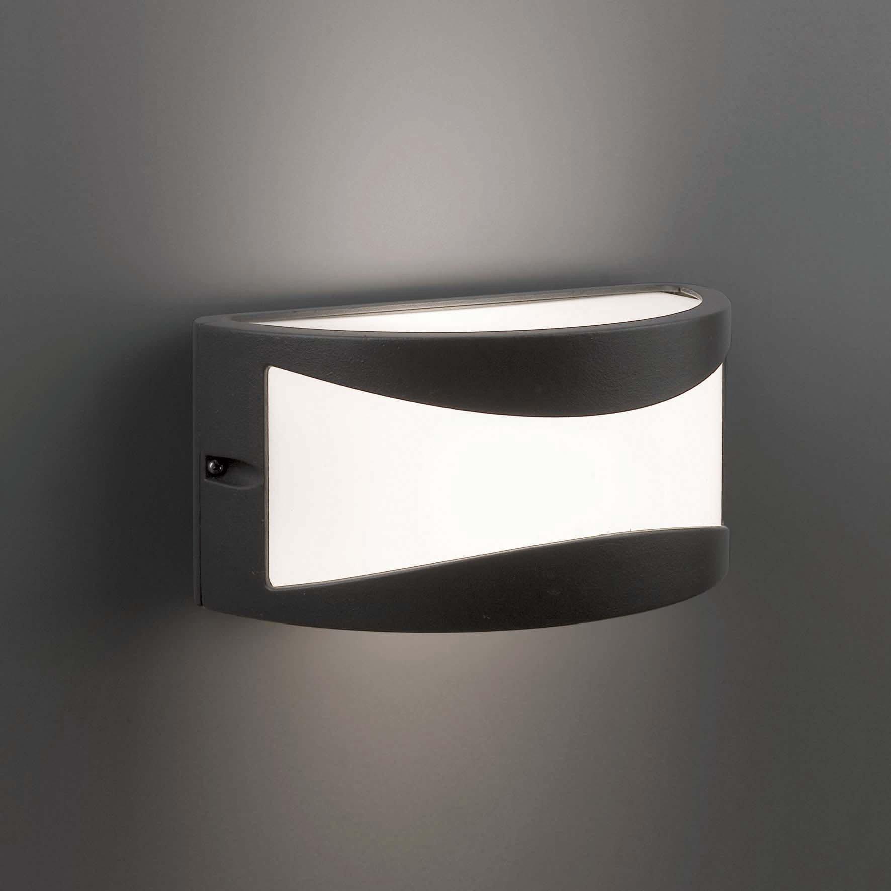 Faro bonn l mpara aplique gris oscuro 70702 iluminaci n for Apliques iluminacion exterior pared