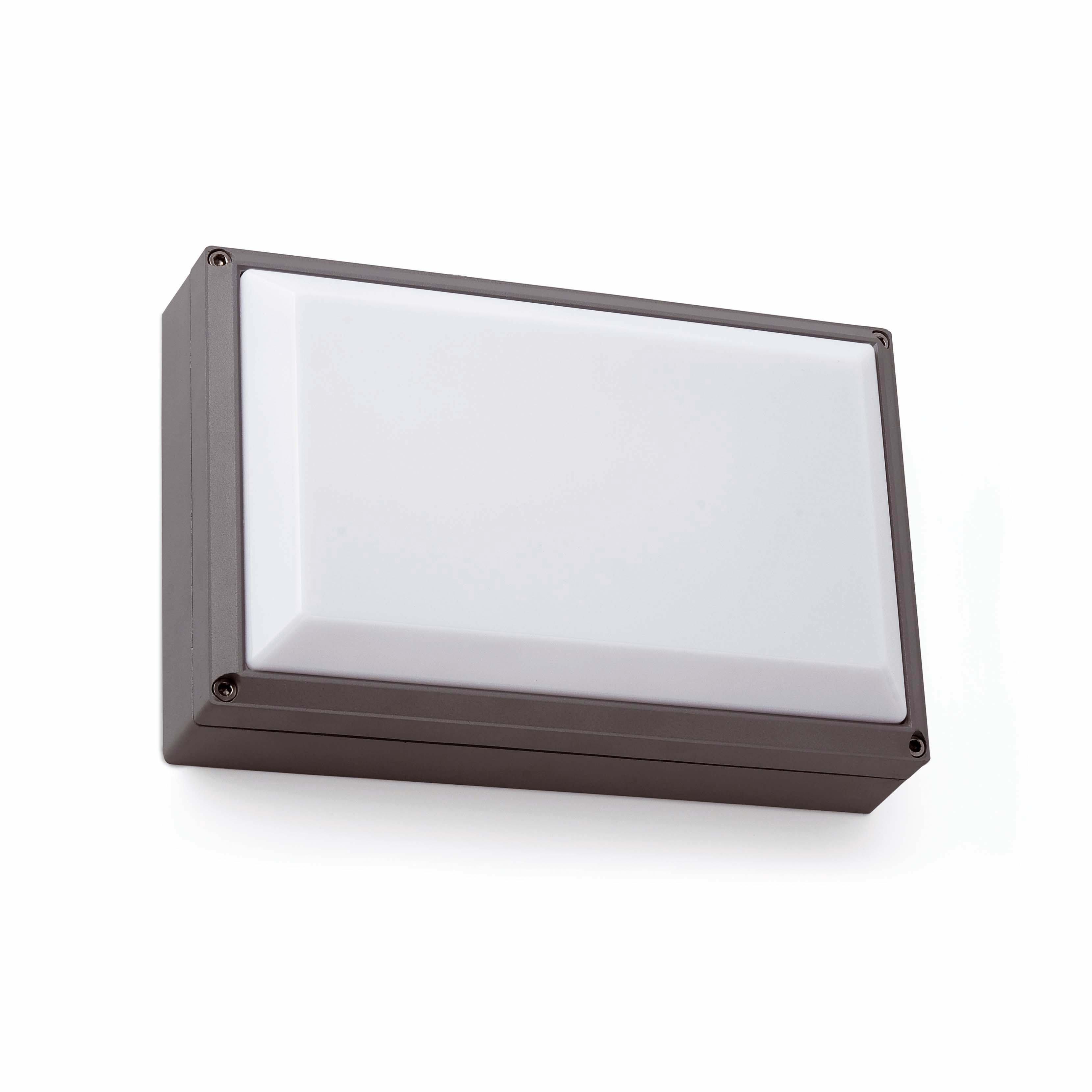 Faro fenes 1 l mpara aplique gris oscuro 72004 ip54 iluminaci n exterior apliques de pared - Faro iluminacion exterior ...
