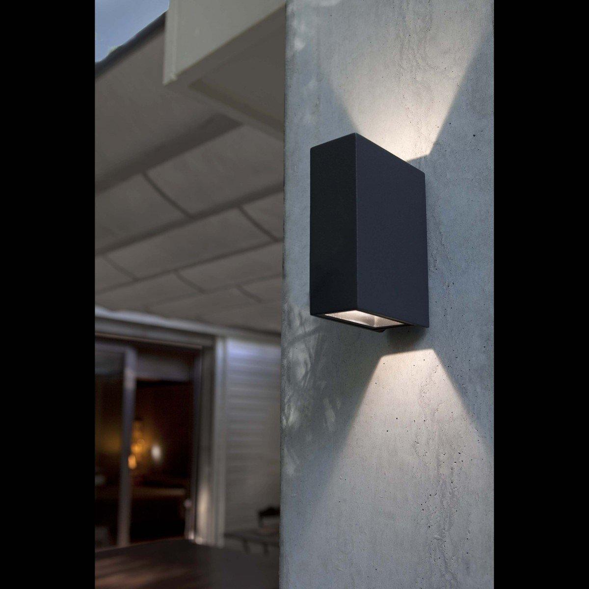 Faro crata led l mpara aplique gris oscuro 70568 for Aplique exterior led
