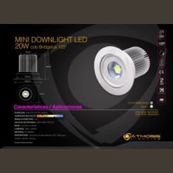 ATMOSS MINIDOWNLIGHT LED COB 20W 120º