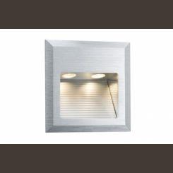 PAULMANN 93753 Led 1x2W Luminaria de empotrar SpecialLine Quadro  cepillado